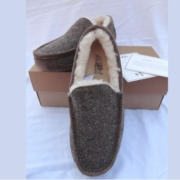 d53eb17f0b5 UGG ASCOT TWEED STOUT MEN'S MOCCASIN SLIPPERS 8 NWT